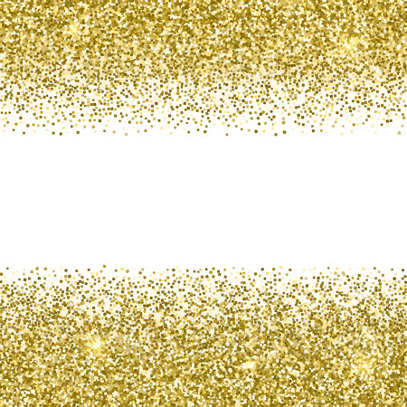 Gold glittery frame with white background. Sparkle golden vector background. Seamless pattern Vectores