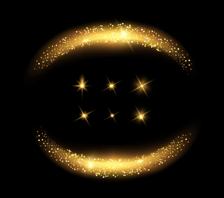 Vector glowing light effects set. Stars bursts with sparkles elements for any image. Transparent stars. Vectores