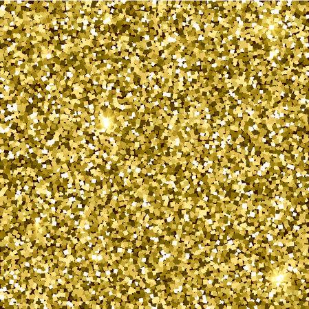 Gold glittery texture. Sparkle golden vector background. Seamless pattern