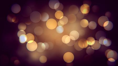 Golden bokeh effect of autumn night. Warm blurred sparcles background effect. Shiny dots Foto de archivo