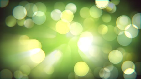 Light bokeh nature fresh effect. Blurred spring forest camera effect. Magical shiny abstract background.