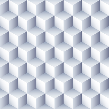 Geometric abstract background. 3D Cubes pattern. Volume hexagon seamless texture. Optical illusion pattern. Stock Illustratie