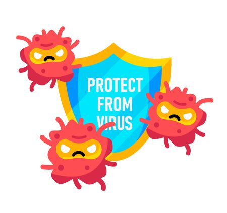 Protect from virus. Covid-19 virus or corona virus shield concept. Fight the sickness.