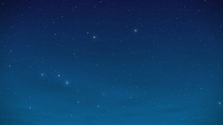 Night star sky with constellations and sparkling shimmering stars.