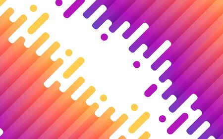 Colorful rounded lines geometric background. Abstract fluid wave shapes composition. Vector illustration Stock Illustratie