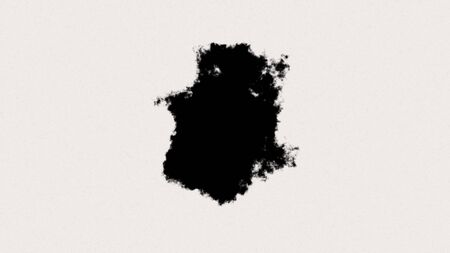 Abstract ink splatter transition or reveal in black and white seamless loop Imagens - 148141418
