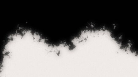 Abstract ink splatter transition or reveal in black and white seamless loop Stockfoto