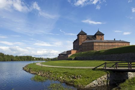 Medieval castle located in Finland in the city of Hameenlinna Editorial
