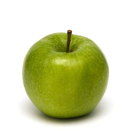 clous up of green apple isolated on white Stock Photo