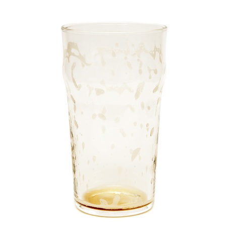 empty beer glass isolated on a white