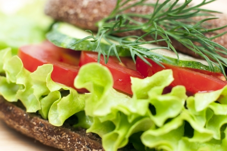 Close up of vegetable sandwich Stock Photo
