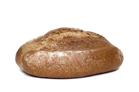 Homemade brown bread isolated on white Stock Photo