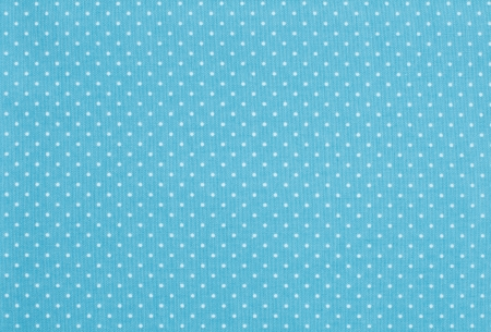Pale blue fabric with white polka dot pattern photo