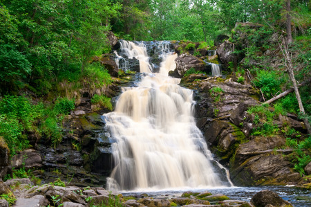 hydrological: Yukankoski waterfall on the river Kulismayoki, Russia, Karelia