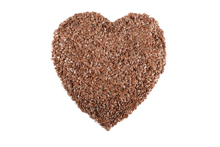 flax seed: Brown flax seed Stock Photo