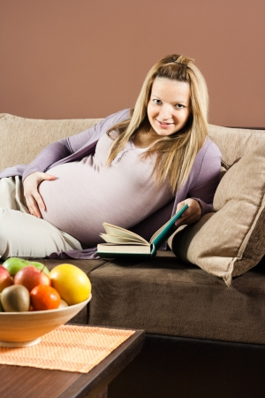 Leisure time for pregnant woman photo