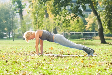 Yoga-Dandasana  Plank pose Stock Photo