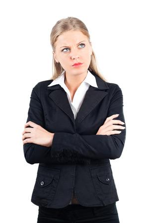 Ritratto di giovane donna arrabbiata