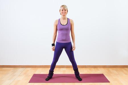 Portrait of female aerobic instructor  photo