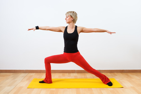 Yoga-Virabhadrasana  Warrior pose photo