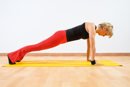 Yoga-Dandasana  Plank pose photo