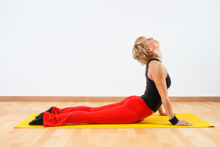 Yoga-Bhujangasana Cobra Pose photo
