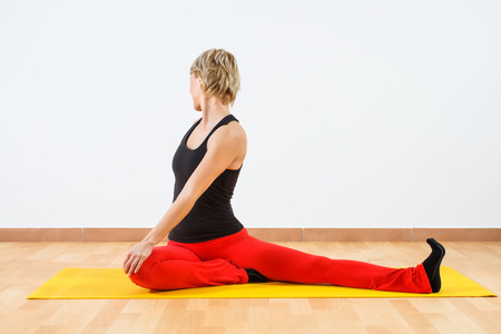 Yoga-Urdhva mukha Kapotasana One Legged King Pigeon Pose photo
