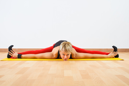 Yoga-Upavishtha Konasana Wide-angle seated forward bend photo