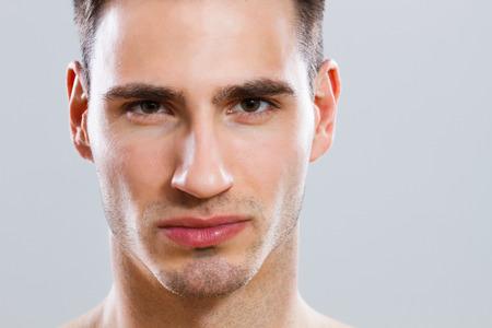 Close up portrait of attractive male