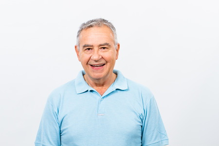 portrait: Portrait of happy senior man. Stock Photo
