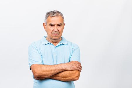only men: Portrait of a sad senior man.