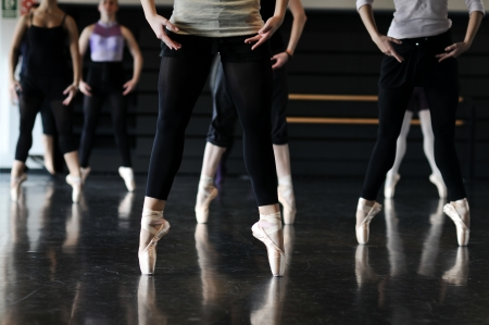 pointe: ballet dancers Stock Photo