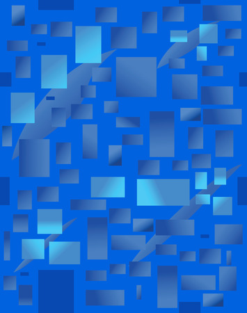 Background with blue rectangulars. Vector illustration