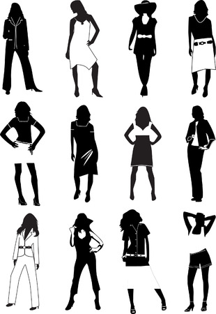 hot body girl: Moda donne. Vector illustration