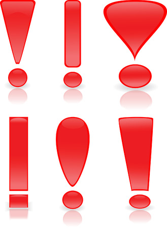 Collection of exclamation marks Vector