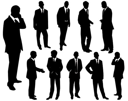 Collection of businessmen. A vector illustration Vector