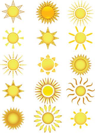 Sun icons. Vector illustration Stock Vector - 3799205