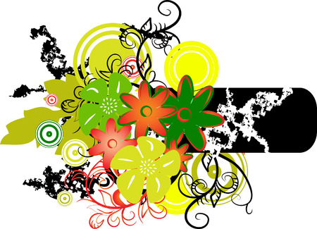Banner with colors. Vector illustration Vector