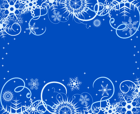 crystallized: Winter background with snowflakes. Vector illustration