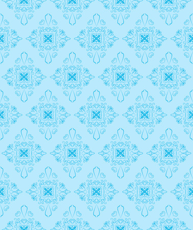 Blue seamless pattern. Vector illustration   Vector