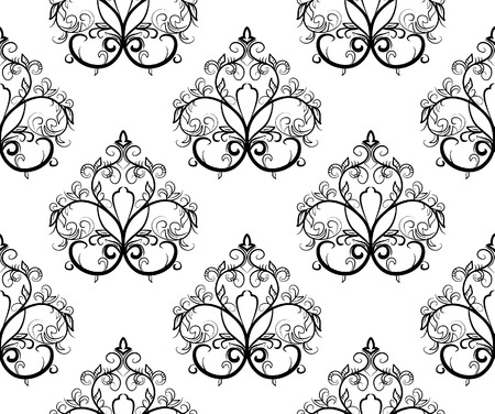 Black-and-white seamless pattern. Vector illustration Stock Vector - 3806286