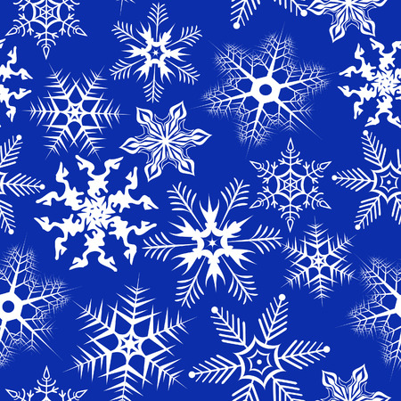 Blue background with snowflakes. Vector illustration Vector