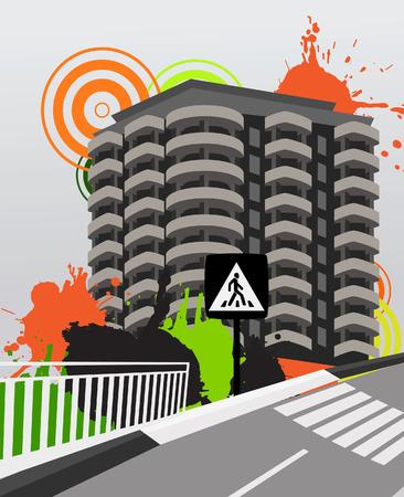 City background. Vector illustration Vector