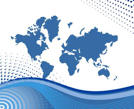 Vector illustration map of world Stock Vector - 3806324
