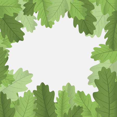 free vector art: Framework with leaves. Vector illustration