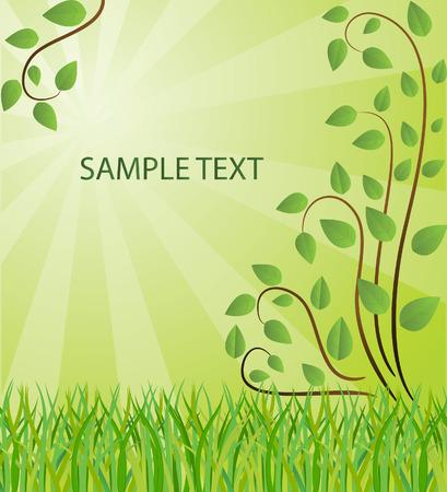 Ecological background. Vector illustration