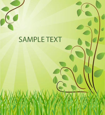 Ecological background. Vector illustration Stock Vector - 3865266
