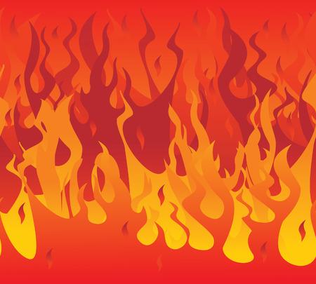 manic: Il fuoco senza soluzione di continuit�. Vector illustration Vettoriali