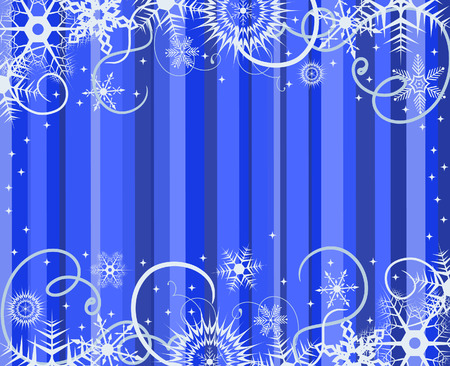 Blue background with snowflakes. Vector illustration Stock Vector - 3865267