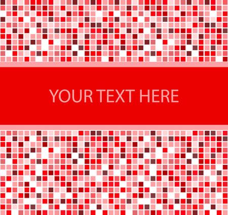 quadratic: Elegante piazza banner. Vector illustration